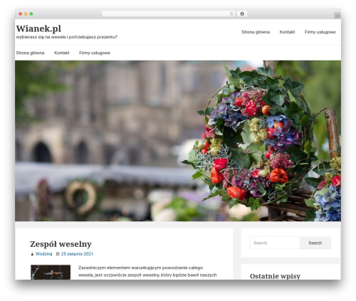Suri free website theme - wianek.pl