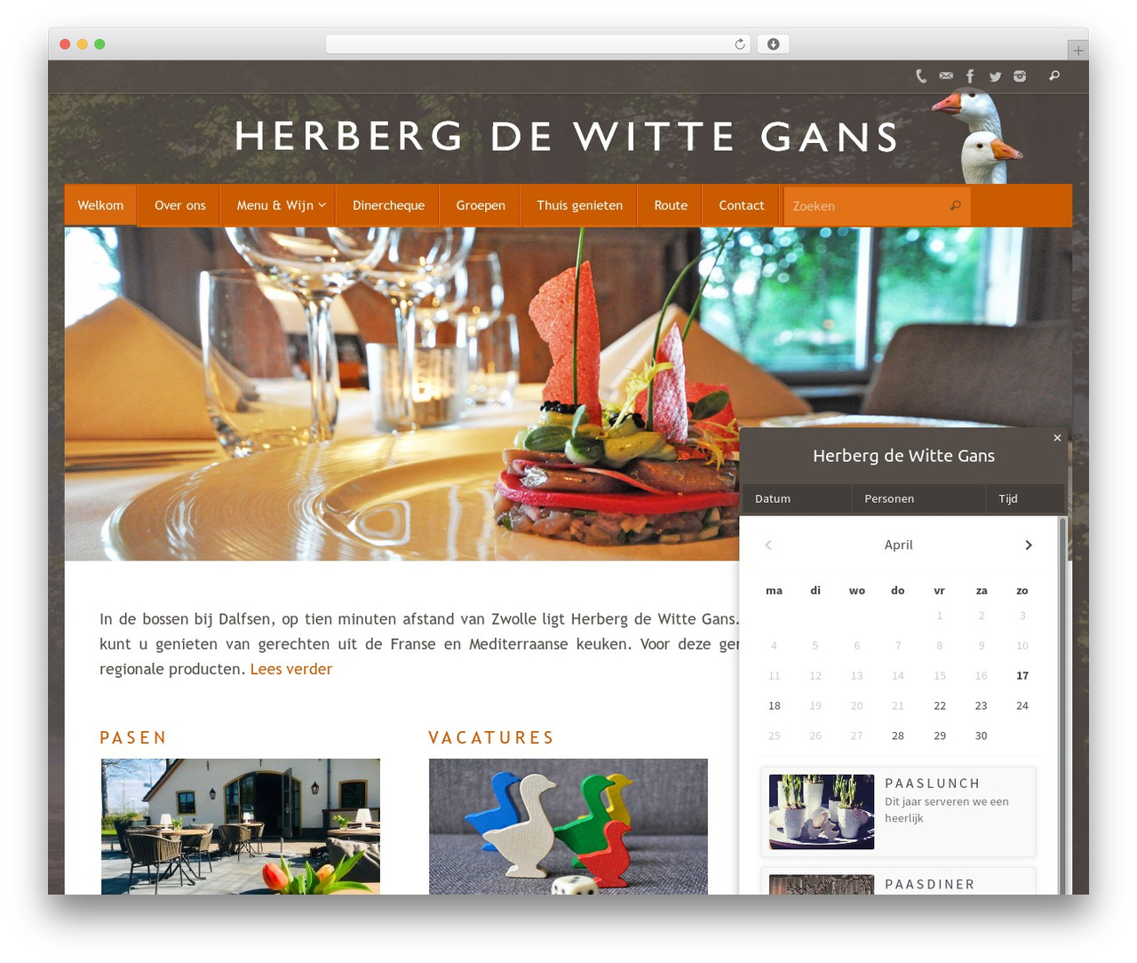 Template WordPress Tempera - wittegans.nl