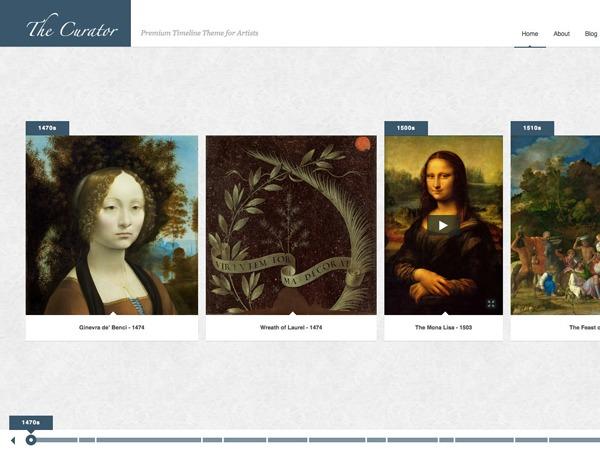 The Curator template WordPress