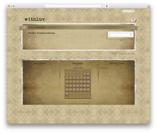 The Vintage WordPress template - withluv.co.uk