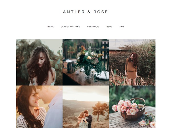 Theme WordPress Antler & Rose