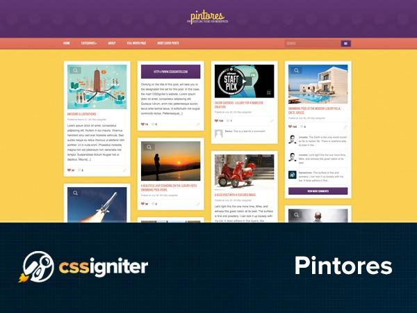 Theme WordPress Pintores