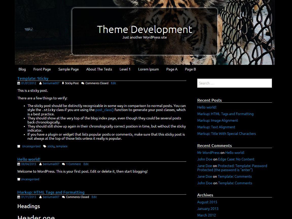 Tifology WordPress photo theme