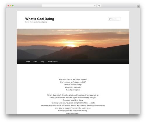 Twenty Eleven template WordPress free - whatsgoddoing.com