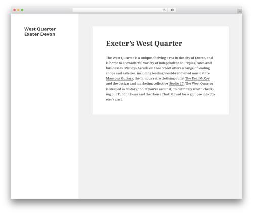 Twenty Fifteen best free WordPress theme - westquarterexeter.com