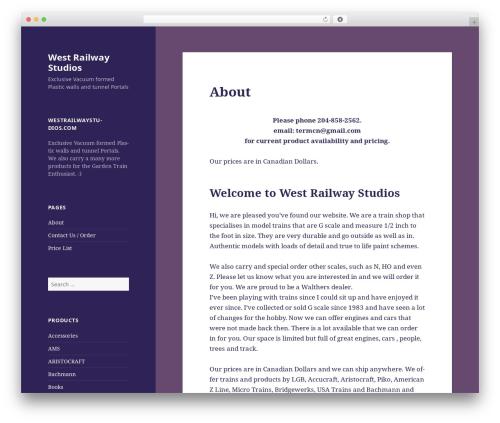 Twenty Fifteen WordPress template free download - westrailwaystudios.com/info