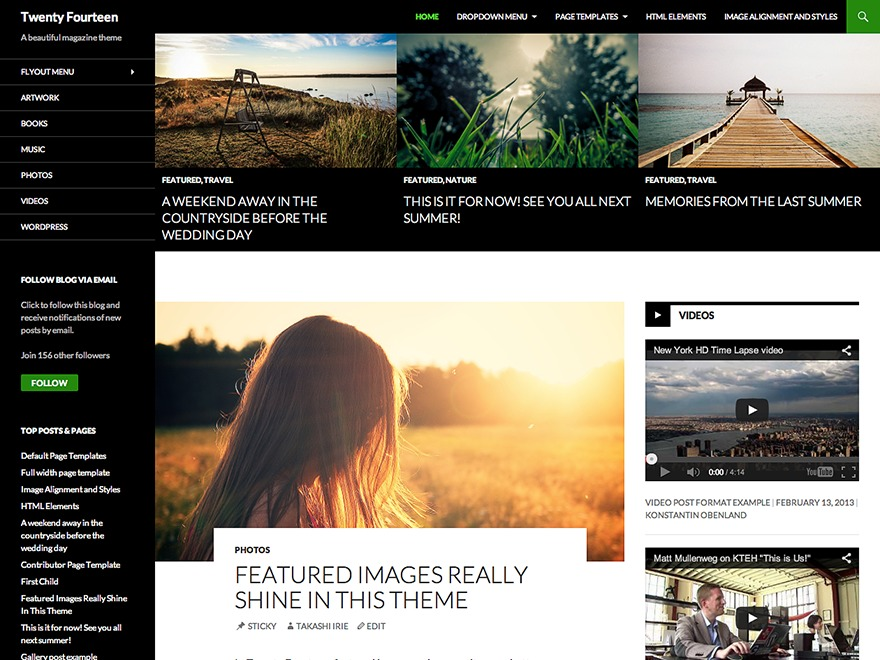 Twenty Fourteen Child WordPress magazine theme