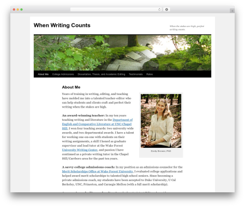 Twenty Ten best WordPress theme - whenwritingcounts.com