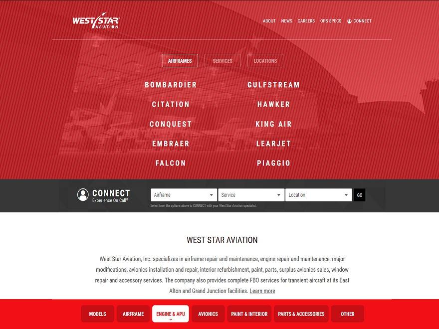 WestStar WordPress page template