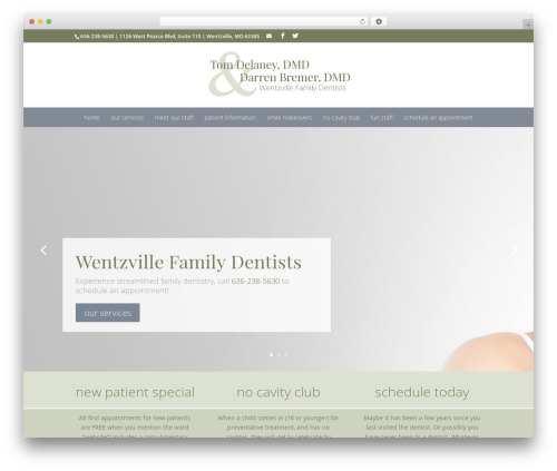 WordPress template Divi - wentzvillefamilydentist.com