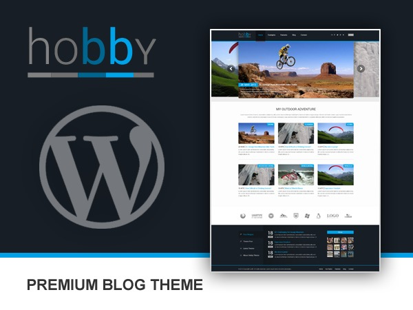 WordPress template Hobby