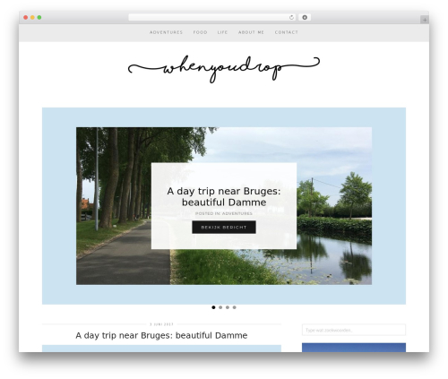 WordPress template Venture (pipdig) - whenyoudrop.com