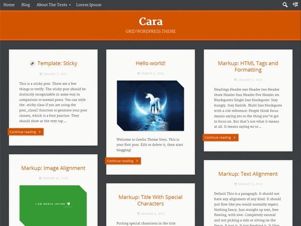 WordPress theme Cara