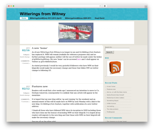 WordPress theme FloatingLight - witteringsfromwitney.com