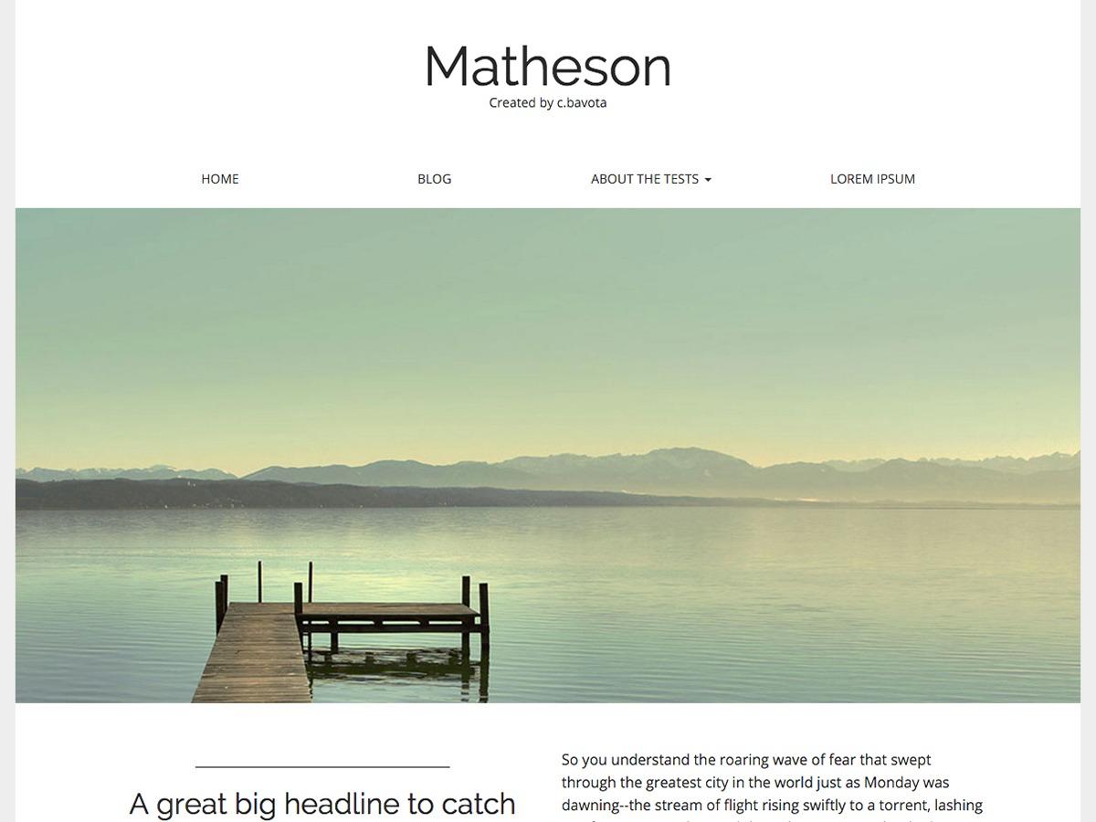 WordPress theme Matheson Child 01