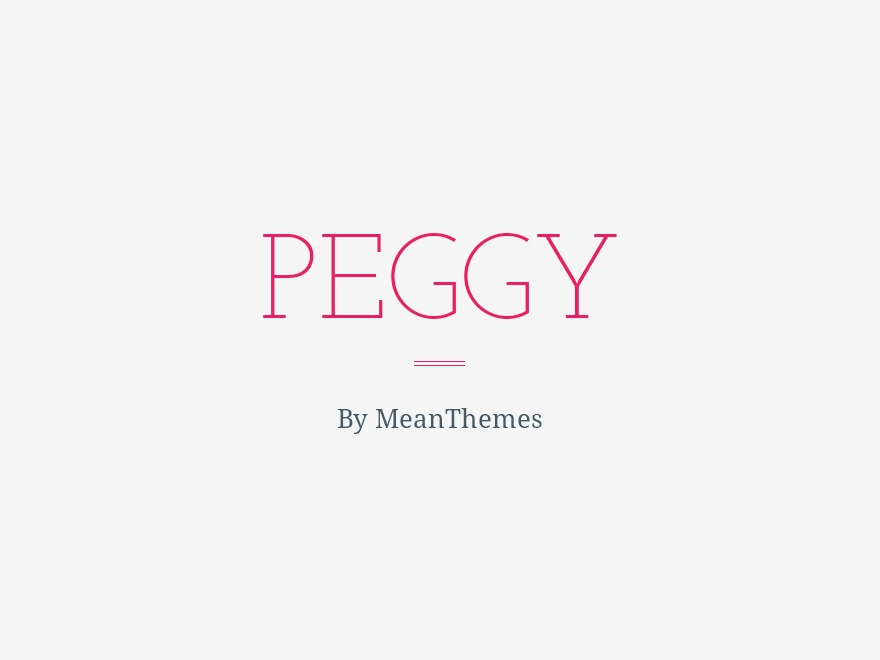 WordPress theme Peggy