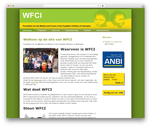 WordPress theme Responsive - wfci.nl