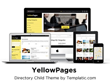 WordPress theme YellowPages