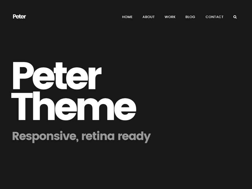WordPress website template Peter