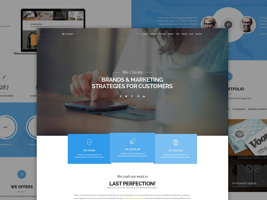 WP theme Enmit