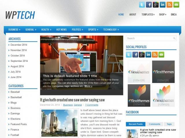 WpTech WordPress news theme