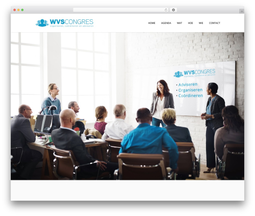 Xone WordPress theme - wvscongres.nl