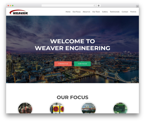 Zerif Lite best free WordPress theme - weaver-eng.co.uk
