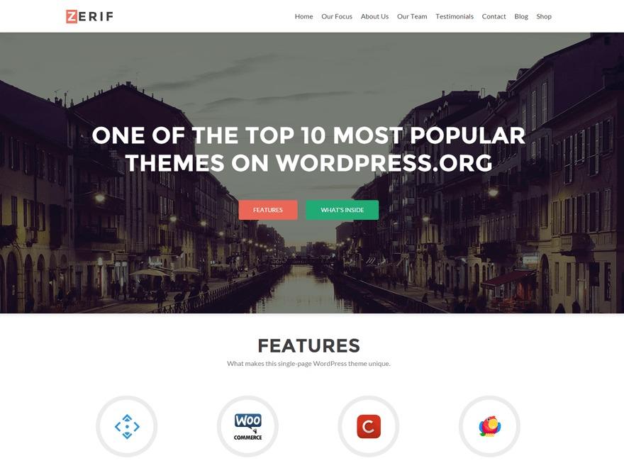 Zerif Lite Child Theme WordPress photo theme