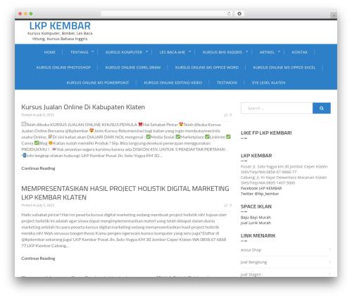 Enlighten free website theme - rumahpintar-kembar.com