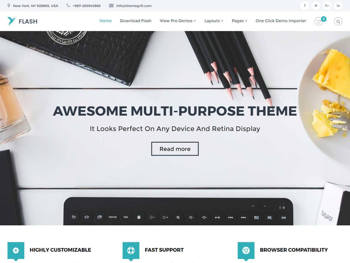 Flash Child Theme top WordPress theme