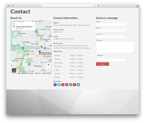 PressCore WordPress theme - redlandshuttles.com.au