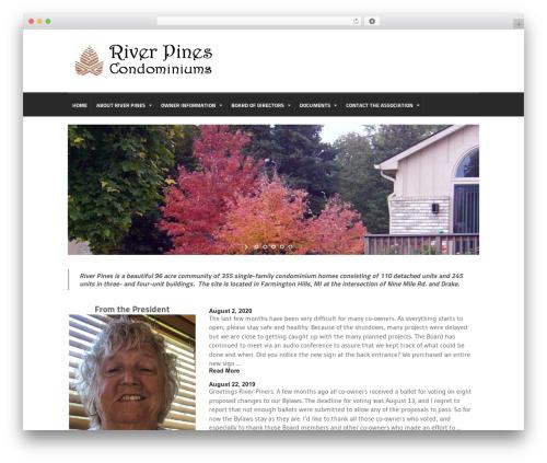 Quadrum Theme premium WordPress theme - riverpinescondominiums.com