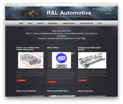 Radial Premium Theme WordPress shop theme - rnlautomotive.com