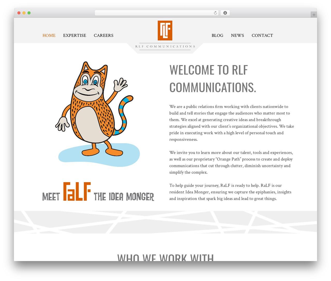 RLF WordPress page template - rlfcommunications.com