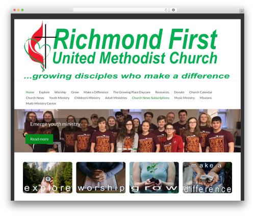 Spacious best free WordPress theme - richmondfumc.org