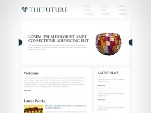 The Future Dark Blue theme WordPress
