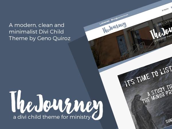 The Journey WordPress theme design