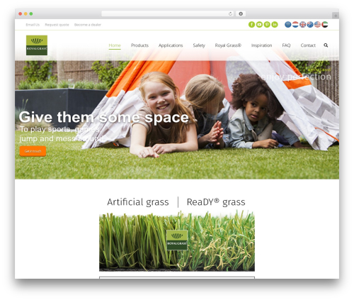 The7 garden WordPress theme - royalgrass.com