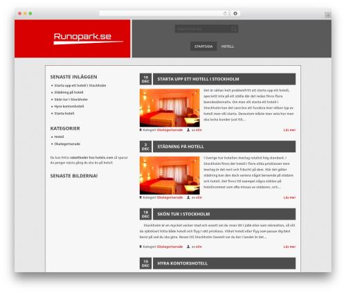 ThunderStruck best hotel WordPress theme - runopark.se