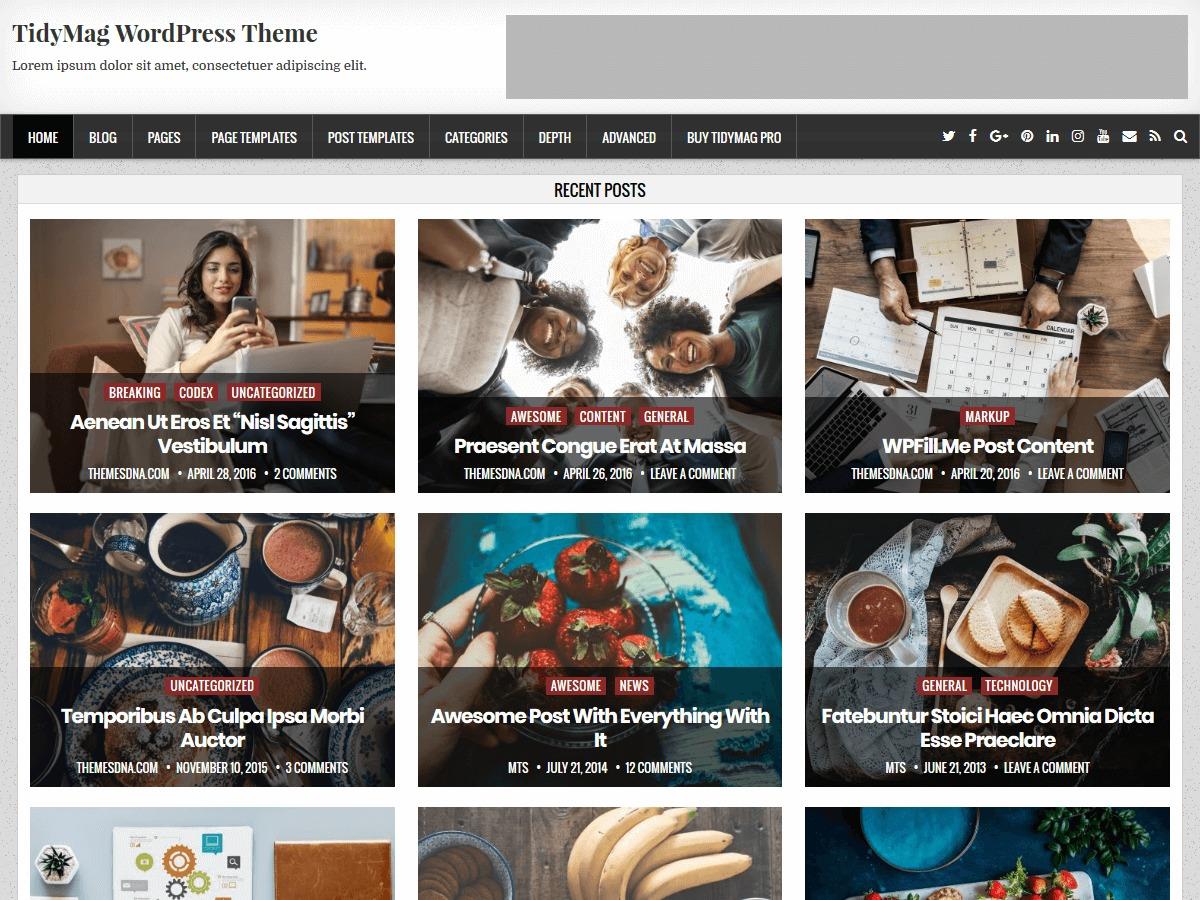 TidyMag WordPress theme