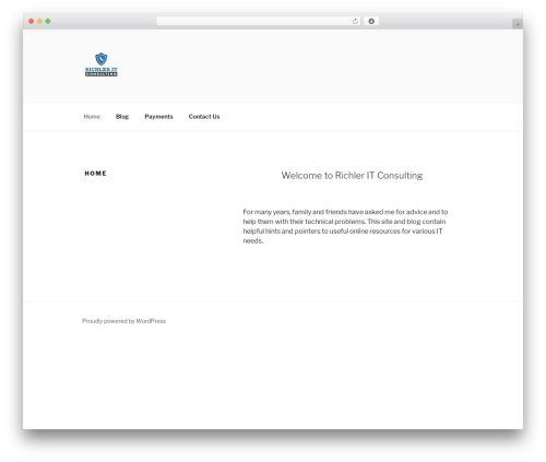 Twenty Seventeen WordPress theme download - richlerit.com