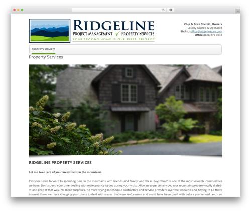 Twenty Twelve free WP theme - ridgelinepro.com