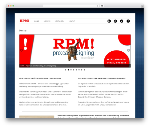 Twenty Twelve template WordPress free - rpm-agentur.de