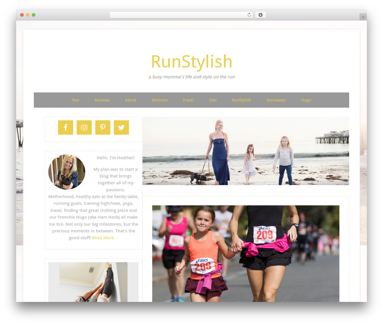 WP template RunStylish - runstylish.com