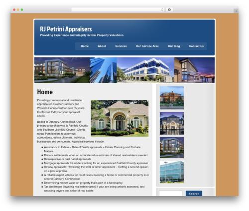 zeeStyle WordPress theme design - rjpetriniappraisers.com