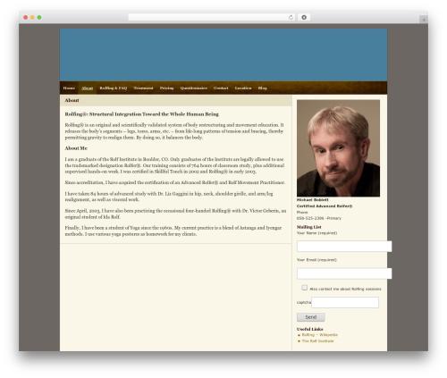 Zeke (2-Column) 1.0 + Widgets best WordPress template - rolfer.biz