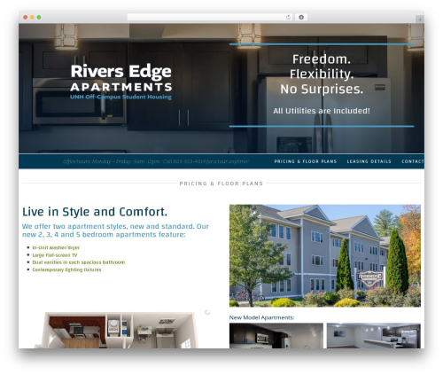 Avada WordPress theme - riversedge-apartments.com