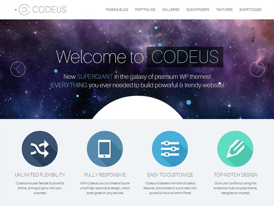 Codeus premium WordPress theme