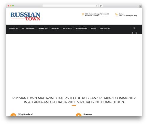 Consulting WordPress magazine theme - russiantownmagazine.com