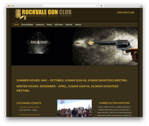 Engage WordPress website template - rockvalegunclub.com